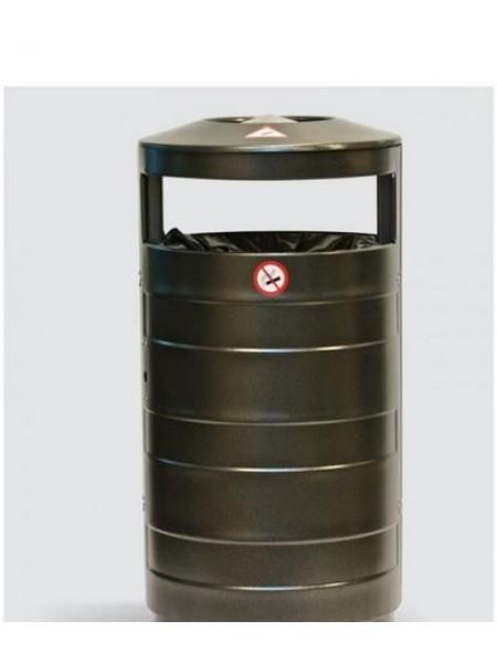 Урна уличная цилиндрическая 70 литров (Балтика) Без перфорации.