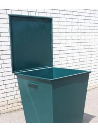 Контейнер для мусора металлический с крышкой  0,75 м/куб..