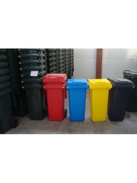 Контейнер для мусора пластиковый 120 литров.