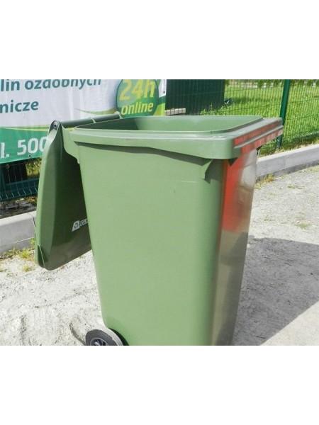 Контейнер для мусора пластиковый 240 литров.