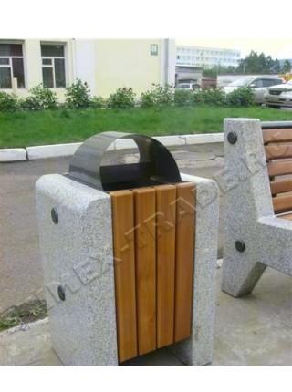 Урна для мусора уличная гранитная (U1).