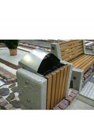 Урна для мусора уличная гранитная (U5).