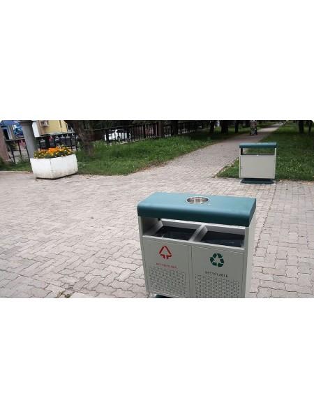 Урна уличная Калгари для раздельного сбора мусора.