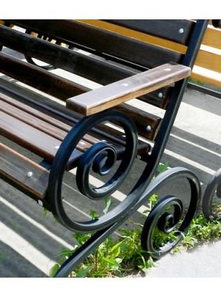 Скамейка Французская лоза с подлокотником.