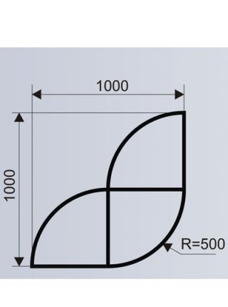 Цветочница для ТРЦ из стеклопластика (модульная система МОДУС 3.а).