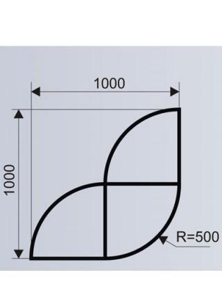 Цветочница для ТРЦ из стеклопластика (модульная система МОДУС 3.д).