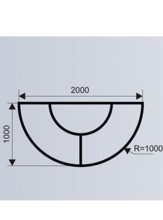 Скамья полукруглая с цветочницей для ТРЦ (модульная система МОДУС 5.9).