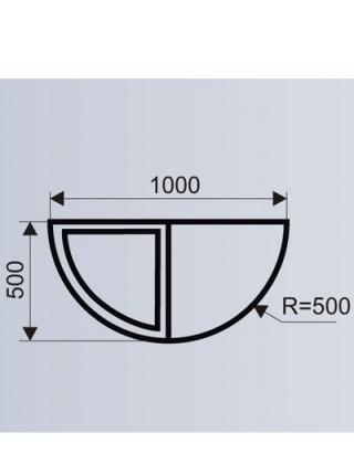 Цветочница полукруглая для ТРЦ (модульная система МОДУС 1.6 а).