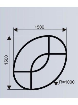 Цветочница овальная для торговых центров (модульная система МОДУС 10.3).