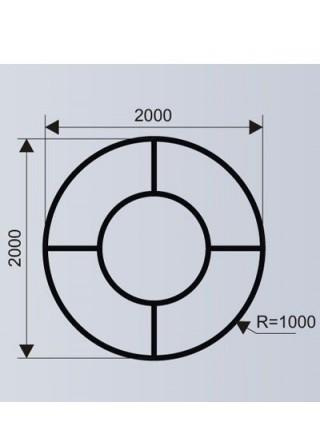 Цветочница для ТРЦ со скамьей (модульная система МОДУС 7.2).