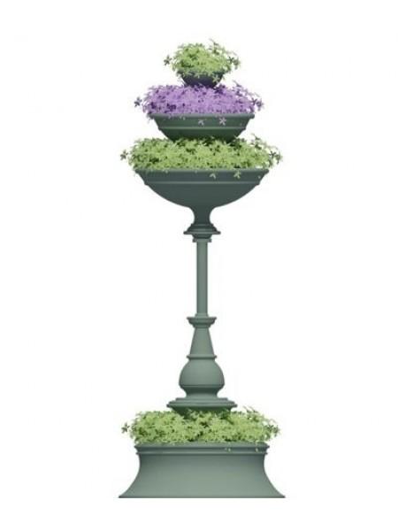Вертикальная цветочница из стеклокомпозита Ренессанс-2.