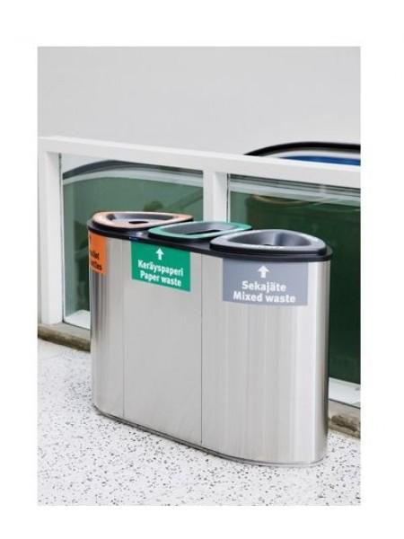 Урна для раздельного сбора мусора FinBin Bermuda Triple.