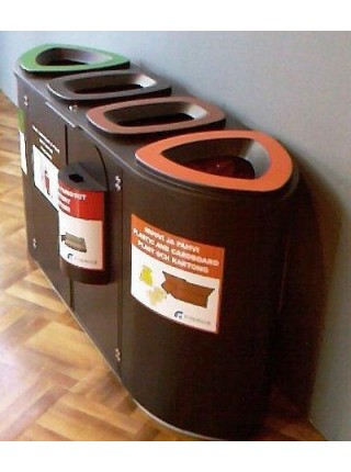 Урна для раздельного сбора мусора FinBin BERMUDA Quard.