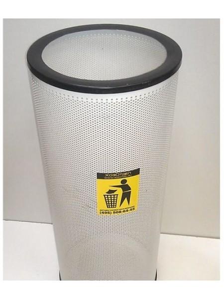 Урна для мусора перфорированнная диаметр 25 см. Окрашенная..