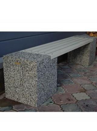 Скамейка бетонная без спинки Евро-2.