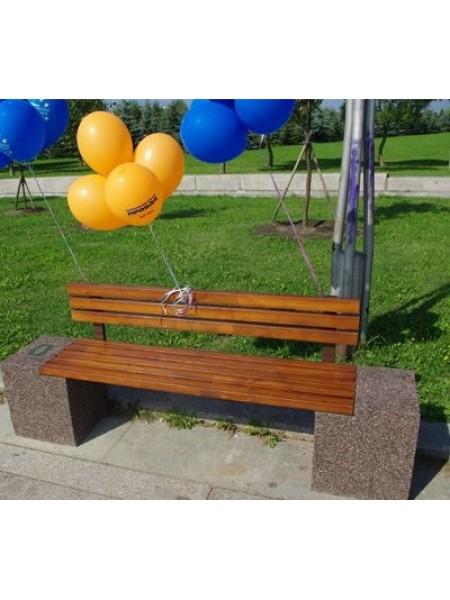 Скамейка бетонная парковая Евро-2 Lux.