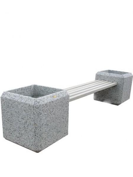 Скамейка бетонная с вазонами Барбара.