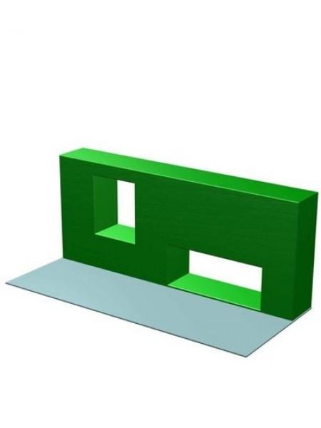 Элемент полосы препятствий: Препятствие Стенка с двумя проломами.