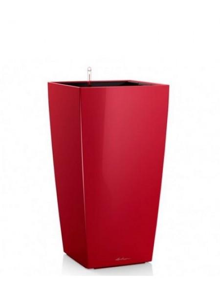 Кашпо CUBICO 50 с системой полива , красное блестящее (18163).