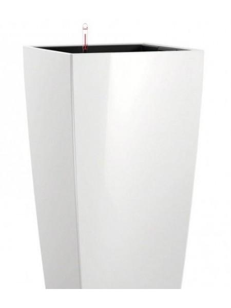 Кашпо CUBICO 50 с системой полива , белое блестящее(18161).