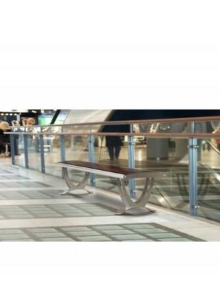 Скамья для торговых центров Хельсинки без спинки.