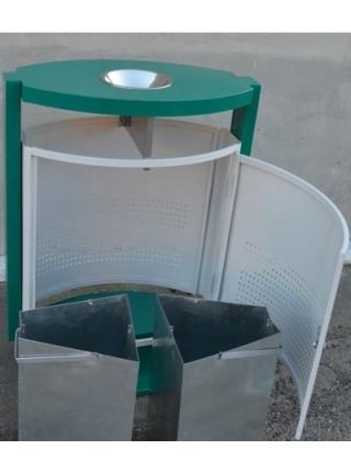 Урна двухсекционная для раздельного сбора мусора Эрчи.