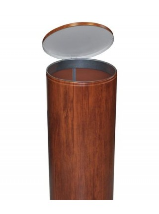 Урна для мусора с педалью 30 литров, Вишня.