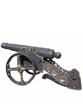 Чугунная декоративная Пушка.