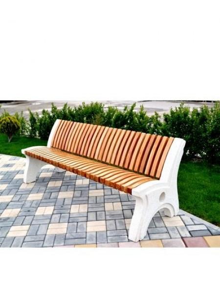 Скамейка парковая бетонная с массивом бука СБ-1-ПП.