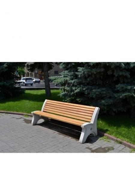 Скамейка парковая бетонная с массивом бука СБ-1-ПР.