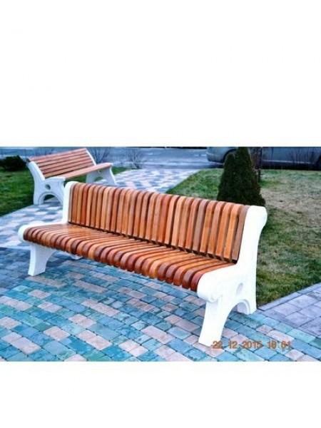 Скамейка парковая бетонная с массивом бука СБ-2-ПП.
