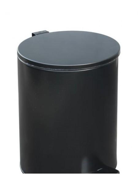 Урна с педалью 7 литров черная.