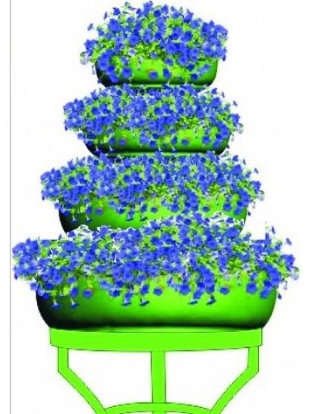 Цветочница ФОНТАН ярусный, 4 яруса, термо-чаши 480, 600 и 840мм.