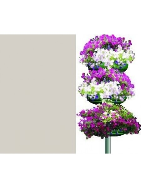 Цветочница КОЛОННА 3, 3 яруса,термо-полуЧаша 840мм.