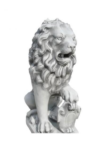 Скульптура Лев сидя декор (3.1.1).