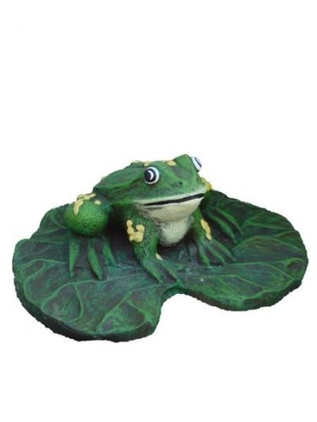 Скульптура Лягушка на листе (0.03).