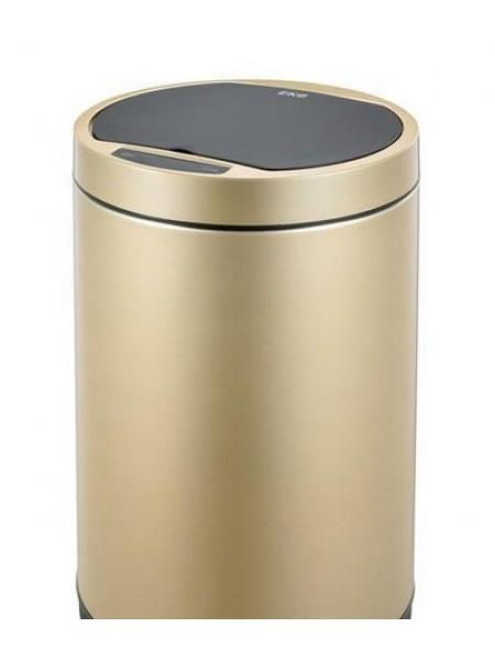Сенсорное мусорное ведро EKO, премиум-класс, 12 литров, нержавейка, цвет ЗОЛОТАЯ ШАМПАНЬ (EK9285CG-12L).