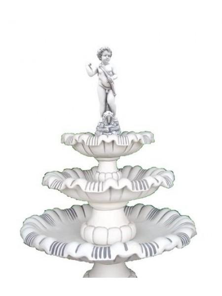 Фонтан Мальчик-лучник, на 3-х чашах + ножка низкая (64.2).