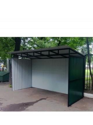 Контейнерная площадка для контейнеров ТБО без ворот.