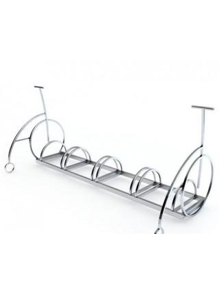Велопарковка Velo-5 нержавеющая сталь (с боковинами велосипедами).