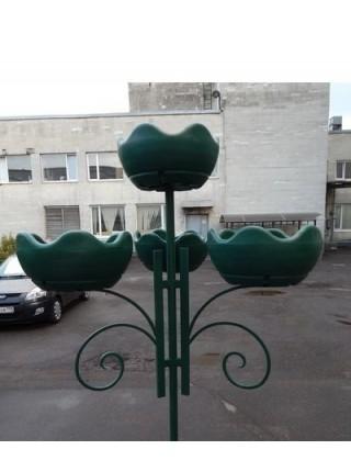 Цветочница УЛИТКА подвесная парковая 3,термо-чаши 600мм.